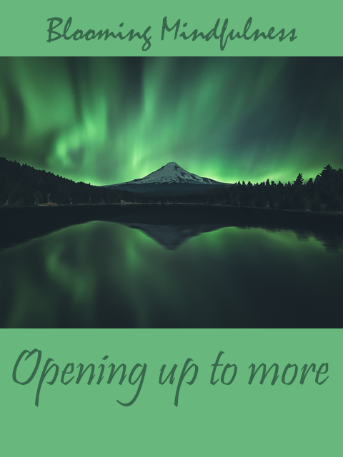 title of the post with picture of Aurora Borealis over mountains
