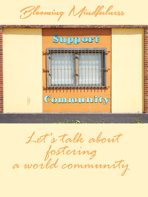 Picture is the name of the blog written above a picture of a barred window with the words Support Community written around it. Below this picture is written the blog title