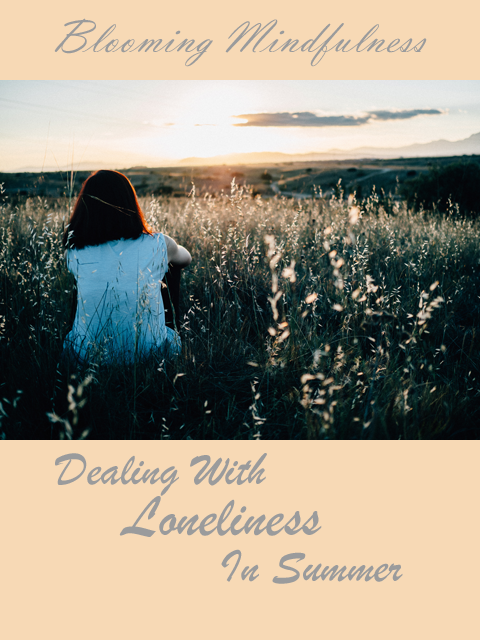 Picture is the name of the blog with a photograph of a woman sitting facing away in a field watching the sunset with the title of the blog post below
